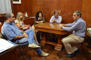 Edgardo Cutin recibió a una comitiva de Adiunt