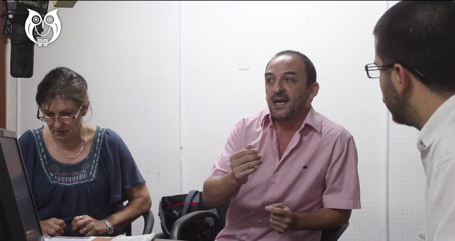 Mario Vittar, candidato a secretario general por la lista Unidad Docente