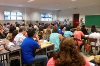 La primera asamblea del año contó con la presencia de cerca de 200 docentes