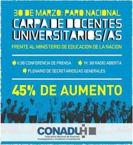 (I) Urgente: Docentes universitarios piden 45% de aumento